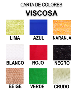 carta de colores VISCOSA 2 GLAC TIENDA